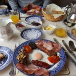 Breakfast at Magannagan Farm. I dream about this food- it was the best I had in Ireland.