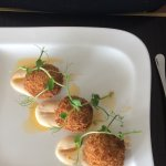Crab cakes with chilli mayonnaise starter