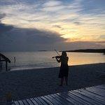 Violinist at Sunset Beach