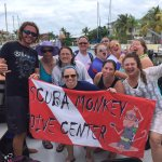 The Scuba Monkey ladies with our dive guide Andrew!