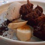Banana Chocolate Cake and Rum Ice Cream