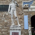 David in front of Palazzo Vecchio Florence