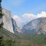 The Big Three at Yosemite, El Capitan, Half Dome and Bridal Veil Falls