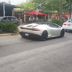 Lambo going down Collins Ave.