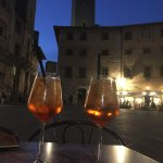 drink with a piazza view :)