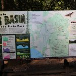 Trail and info map of the park