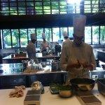Dans les cuisines du chef.
