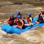 Whitewater rafting with Amy