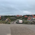 View from hotel entrance towards Vlieland