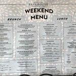 Bakehouse Weekend Menu