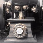 Mr Graham Bell thank you for this!!! Antique working landline phone!!! Khazana India, Hauz khas