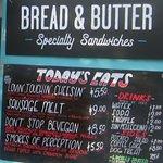 Menu - Bread & Butter Food Truck