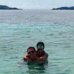 Us at the South Cay beach...
