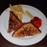 Pot Roast Sandwich 5 fries eaten off plate