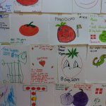 Diners get to draw a tomato for the wall. Kids & adults love this!