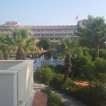 View of hotel from balcony of Bungalow 3502