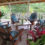 The veranda, top spot for socializing