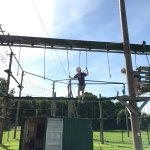 William (Aged 10) on the Low Ropes Course at Altitude Bournemouth.
