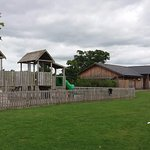 Campground play area and toilet block