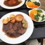 Near - Roast Beef, Far - Roast Gammon.