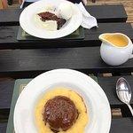 Near- Sticky Toffee Pudding, Far - White Chocolate Cake
