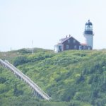 The tramway to the lighthouse is no longer used.