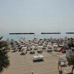 Spiaggia privata dell'hotel - vista dalla stanza.