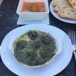 Escargot and gazpacho