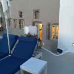 Our terrace fronting Cycladic suite