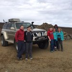 Super Jeep just before heading onto Langjökull Glacier