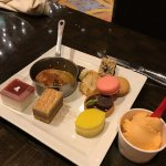 Bread pudding, macarons, orange Thai ice cream, lemon cake, Oreo Rice Krispie treat