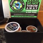 K-cup pods are collected by the hotel for repurposing - part of their environmental program