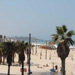 Gordon beach with Jaffa at the back