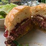 Drop dead delicious bison burger.