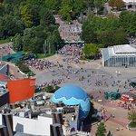 Vue depuis la montgolfière du Disney Village