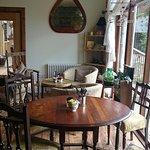 Tea room next door to outside eating terraced area.