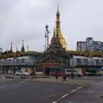 Sule Pagoda is located in middle of a busy junction and has four entry/exit points