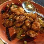 Kung Pao Shrimp dish