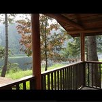 View from our balcony of Cabin 5 (in August)