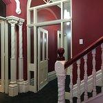 Inside the hotel, corridor