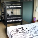 King bed with twin bunks