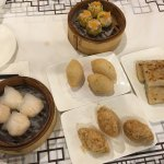 Har Gao, Siu Mai, deep fried taro, dumpling and pan fried turnip