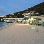 Looking from the beach toward the resort just before sunrise. Pic 1. Butler rooms. Pic 2. Pool d