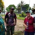 Meeting locals in Kavieng
