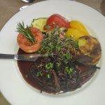 Steak angus et ses légumes