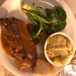Meatloaf, Squash Casserole and Baked Broccoli