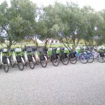 The variety of different bikes on site to use