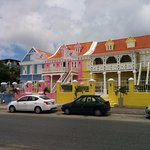 The Colorful View of Scuba Lodge from the Street