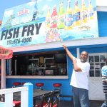 David the owner of Fish Fry in Nassau, Bahamas! Stop by for a Home Cooked Meal! You will love it