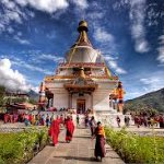This chorten(stupa) was built in 1974 by queen mother in memory of her royal son(3rd king of Bhu